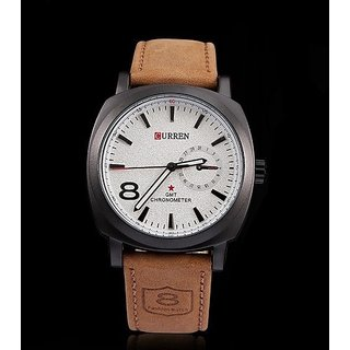 CURREN White Casual Wrist Watch For Mens By 5star