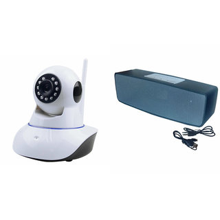 Mirza Wifi CCTV Camera and Box-2 Bluetooth Speaker for MICROMAX CANVAS DOODLE 4(Wifi CCTV Camera with night vision |Box-2 Bluetooth Speaker)