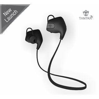 Tantra Zing Bluetooth 4.1 Wireless Headset with Noise and Echo Cancellation Scratch Resistant Finish Sweat Proof