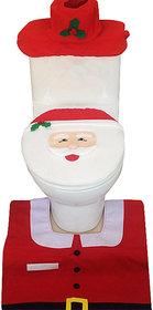 Futaba Santa Claus Toilet Seat Cover and Rug Bathroom Set