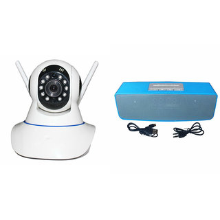 Mirza Wifi CCTV Camera and Box-2 Bluetooth Speaker for HTC DESIRE XC(Wifi CCTV Camera with night vision |Box-2 Bluetooth Speaker)