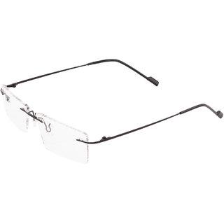 Royal Son Rimless Rectangular Spectacle Frame For Men And Women (RS0100ER 50Transparent Lens)