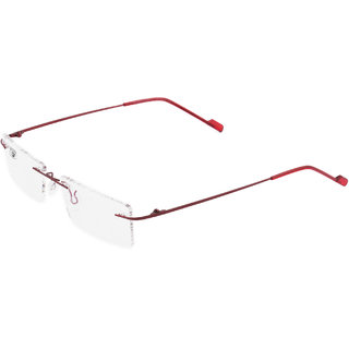 Royal Son Rimless Rectangular Spectacle Frame For Men And Women (RS0120ER 50Transparent Lens)