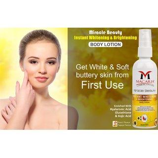 instant whitening body lotion