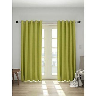 House This Shrek Green 100 Cotton Door Curtain Set Of 2