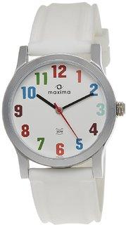 Maxima Avant Garde Analog White Dial Unisex Watch - 28322PMGI