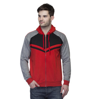 Emblazon Men's Grey,Black,Red Sweatshirt LB205