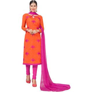 34ee3beea Buy DnVeens Women Pure Chanderi Embroidered Unstiched Suit Salwar Kameez  Dress Material With Dupatta BLGNGITCT12 (Unstitched) Online - Get 77% Off