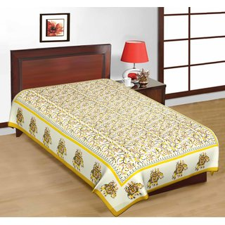 Fashion Dziner Cotton Yellow Animal Single Bedsheet