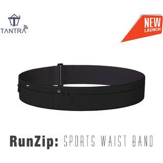 Tantra RunZip Sports Waist Band, Running Belt, Gym Mobile Pouch, Workout Waist Belt For Men and Women 4 sizes