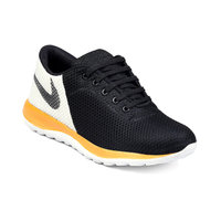 Woakers Men's Black Orange Sport Running Shoes