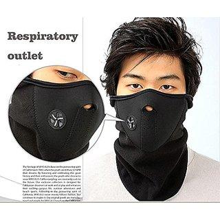 Protective Half Face Bike Riding Mask (Black)