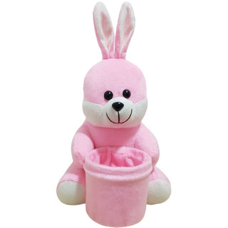 Ultra Soft Bunny Pen Stand Holder For Kids 8 inches