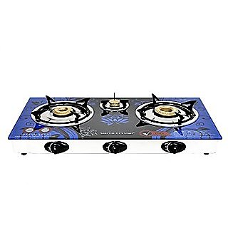Buy SURYA CRYSTAL AUTOMATIC 3 BURNER GAS STOVE COOKTOP Online - Get 70% Off