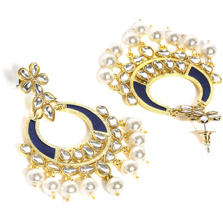 Buy rubans kundan and pearl gold toned chandelier earrings online rubans kundan and pearl gold toned chandelier earrings aloadofball Choice Image