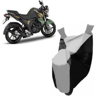 Kaaz Premium SILVER with BLACK Bike Body Cover For Yamaha  FZ-S