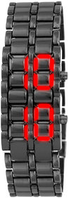 TRUE CHOICE NEW SAMURAI Steel Red Led Bracelet Watch