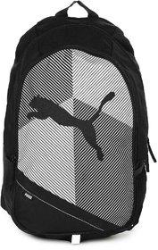 Puma Unisex Black  White Echo Plus Laptop Backpack