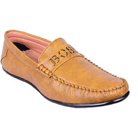 Advanced Tan Loafer For Men With Core-BOSS Design