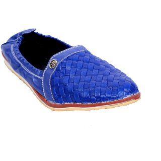 PM TRADERS AND RETAILERS Blue Ethnic Footwear sale official with paypal low price new arrival for sale HpcfF3K