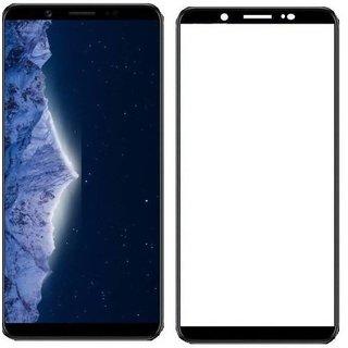 Tempered Glass For Vivo V7 Plus Full Screen Black Colour Standard Quality