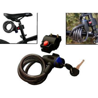 Kudos Bike Lock For Bike Cycle Helmet With Mounting Bracket