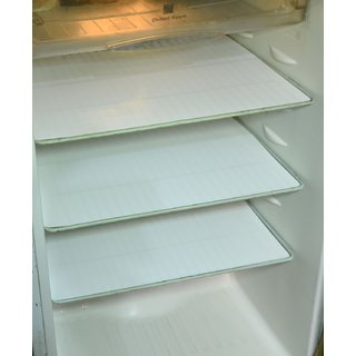 Khushi Creation Refrigerator Drawer Mats / Fridge Mats Pack of 6 pcs 12X17 Inches(White)
