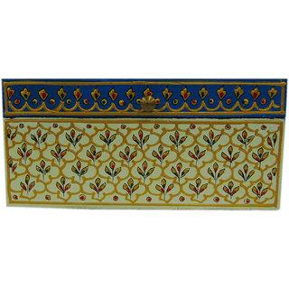 Desert Overseas Multicolor Wooden Hand Painted Decorative Rectangle Fine Box