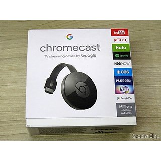 Chrome cast-2 HDMI Output, Media-TV Mirroring/Casting Device With Power Adapter Cable, 1 Year Warranty, 24 Hour Support