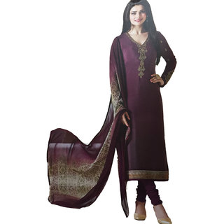 Vinay Womens Crepe Embroided Dress Material -Branded Quality (Unstitched)