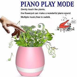 Music Flower Pot Smart Bluetooth Speaker Touch Piano Music Playing Wireless