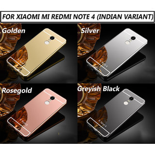 buy online ccd18 5ec86 Redmi Note 4 Silicon Soft Electroplated Mirror Finish Back Cover Frame Case  For Redmi Note 4
