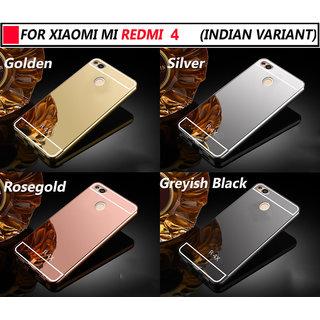 half off f9097 86887 Redmi 4 Silicon Soft Electroplated Mirror Finish Back Cover Frame Case For  Redmi 4 / 4X
