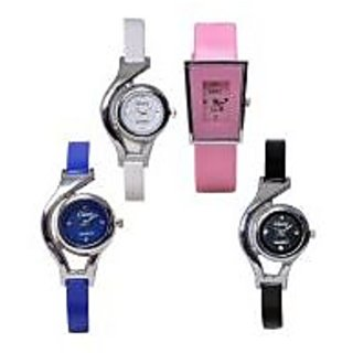 NG Women Set of 4 Combo Fancy Party Wadding Girls Watches