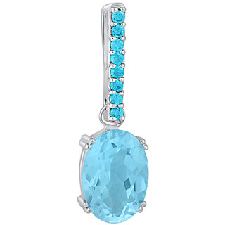 Blue Topaz Sterling Silver-Best for Women Prefer Blue Color