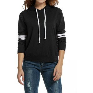 Black & White Sweatshirt with Hood by Raabta