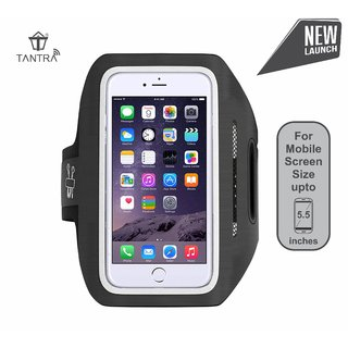 Buy Tantra Enhandz Arm Band Adjustable Sports Running, Jogging, Gym, Aerobics, Cycling Mobile Holder 5.5 inch for i6+,6s+,7+ Online - Get 52% Off