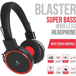 Tantra BLASTER SUPER BASS Bluetooth Wireless Wired Headphone with TOUCH CONTROL with Mic