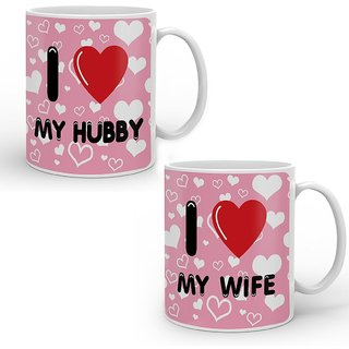 Buy Hubby Wife Printed Coffee Mug Best Valentine Gift Couple Gift