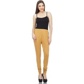 Savage Comfortable Stylish Cotton Lycra Churidar Ankle Length Women Leggings Skin Color