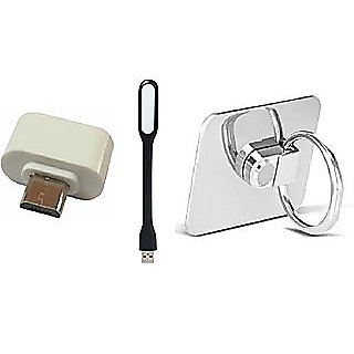 Ring, USB Led Light and OTG Adopter (Assorted Colors)