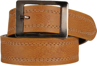 Stylish look Leatherite Light Brown Needle Pin Point Belt For Men