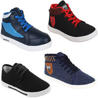 Earton Men Combo Pack Of 4 (Casual Sneaker With Loafer