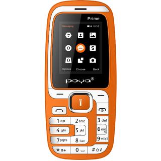 Poya Prime (Dual sim 1.8 inch display 1000 MAH battery 3.5 MM Audio Jack 0.3 MP Digital Camera)Orange