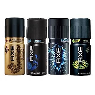 AXE New Original Deo Deodorants Body Spray For Men - Combo Pack Of 4 Pcs
