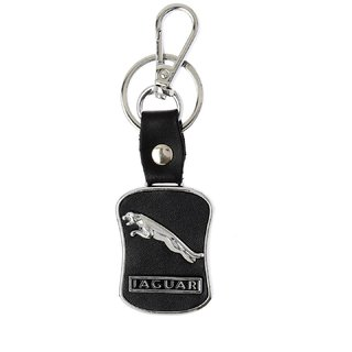 REPTUM DECOR Jaguar Black Leather Keychain Car Bike Key Chain