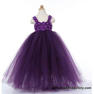 012cdfb93 Buy S-Art Fashion Net Silk With Lace Work Baby Girls Frock Dress ...