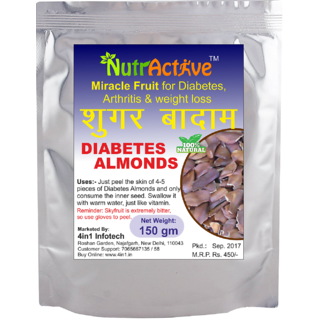 NutrActive Sky Fruit / Diabetes Almonds / Sugar Badam / King fruit / for Diabetes and Weight Loss - 150 gm