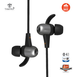 Tantra POWER Boat Bluetooth Headphones (with EXTRA BASS and aptX) Magnetic In Ear Wireless Earbuds 4.1