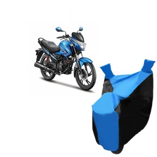 KAAZ Blue with Black Two Wheeler Cover For  Glamour FI Hero